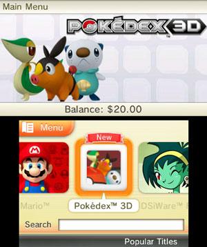 Loja virtual do 3DS traz Pokédex gratuitamente (Foto: Divulgação)