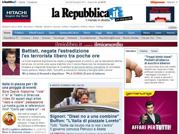 La Reppublica Battisti (Foto: Reprodução)