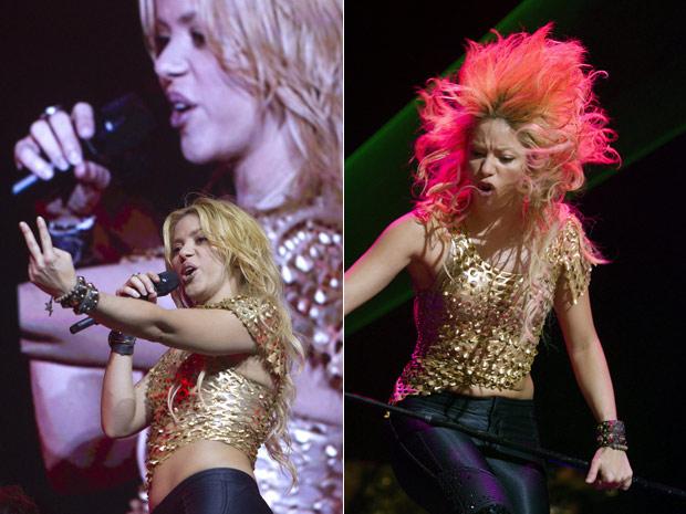 A cantora e pop-star colombiana Shakira se apresenta na noite desta terça-feira (7) na Arena de Geneva, na Suíça. (Foto: Shakira)