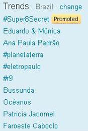 Trending Topics no Brasil às 12h27 (Foto: Reprodução)