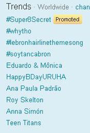 Trending Topics no Mundo, 12h27 (Foto: Reprodução)
