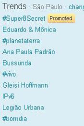 Trending Topics em SP às 13h02 (Foto: Reprodução)