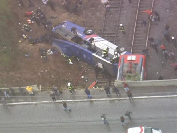 acidente cptm (Foto: Reprodução/TV Globo)
