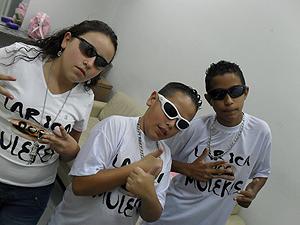 Karoline, Márcio e Leandro formam o Larica dos Mulekes (Foto: Divulgação)