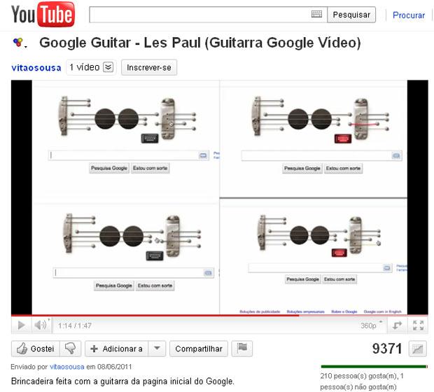 Usuário fez música usando Doodle do Google (Foto: Reprodução)