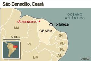São Benedito - Ceará (Foto: Arte/G1)
