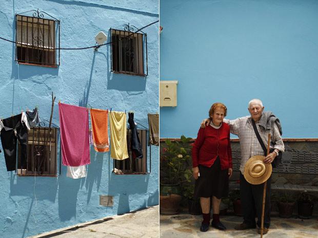 O vilarejo espanhol de Juzcar, no sul da Espanha, terá todas as fachadas de suas casas pintadas de azul para evento promocional do filme 'Os Smurfs' (Foto: Reuters)