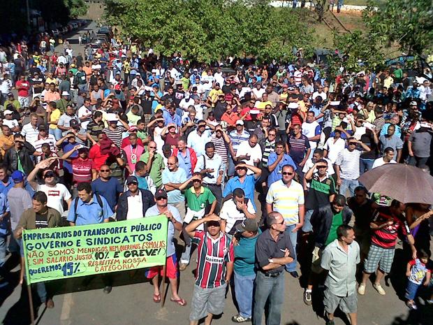Assembléia rodoviários (Foto: Debora Santos /G1)