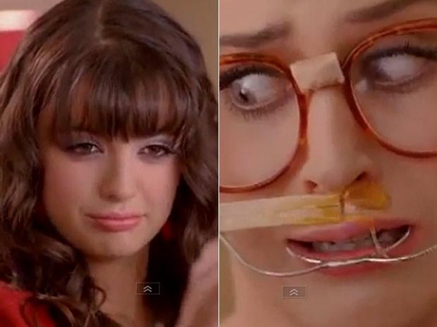 Rebecca Black depila Katy Perry em cenas de novo clipe (Foto: Reprodução)