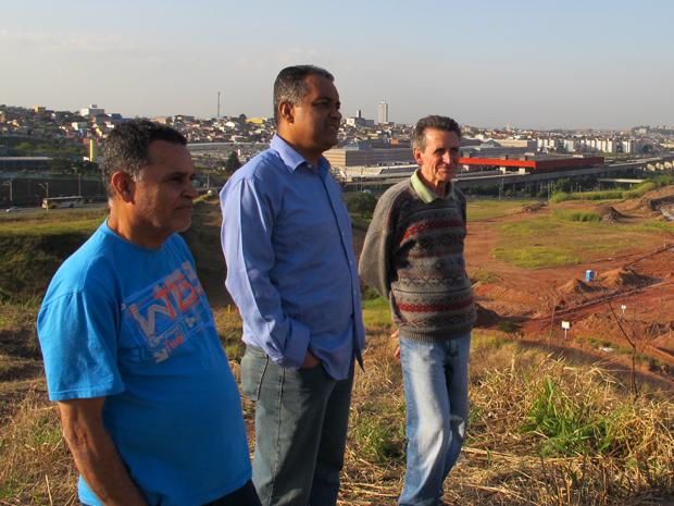 Melquiades, Nelson e Júlio  (Foto: Roney Domingos/ G1)