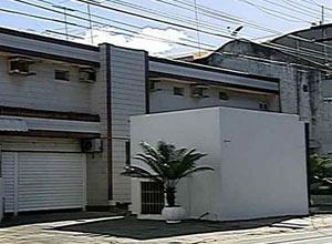 Motel onde o casal foi encontrado morto (Foto: Reprodução/ TV Globo Nordeste)