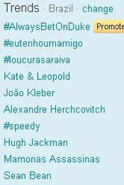 Trending Topics no Brasil às 17h48 (Foto: Reprodução)