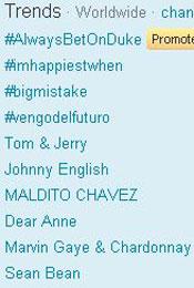Trending Topics no Mundo às 17h42  (Foto: Reprodução)
