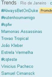 Trending Topics no Rio às 17h42 (Foto: Reprodução)