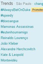 Trending Topics em SP às 17h54 (Foto: Reprodução)