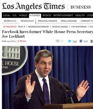 Joe Lockhart era porta-voz da Casa Branca no governo de Bill Clinton (Foto: Reprodução)