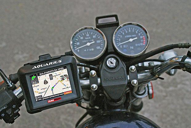 """A Aquarius, fabricante de GPS, lançou o """"Duas Rodas"""", um aparelho de navegação para motos (Foto: Divulgação)"""