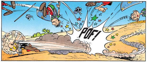 Asterix em batalha com soldados romanos (Foto: Reprodução/Editora Record)