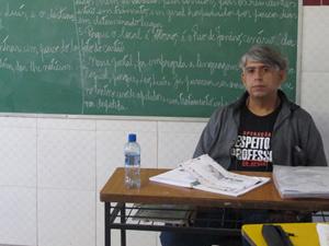 Marcelo Santana, professor da rede estadual do Rio de Janeiro (Foto: Patrícia Kappen/G1)