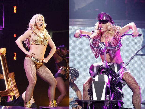 Britney Spears durante show da turnê Femme Fatale, em Sacramento, na Califórnia (Foto: Britney Spears Femme Fatale Tour, Roderick Trestrail II/AP)