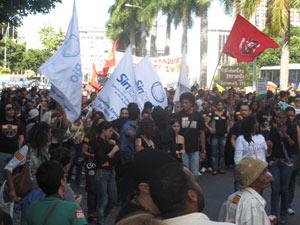 Professores em greve no Rio protestam (Foto: Aluizio Freire/G1)