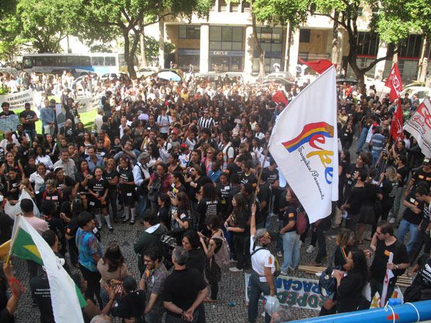 greve professores centro (Foto: Aluízio Freire / G1)