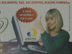 Empresa não tinha autorização da Anatel para prover internet (Foto: Reprodução/TV Globo)