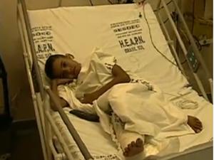 Lucas em dezembro, na época do acidente (Foto: Reprodução TV Globo)