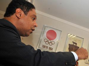 O ministro do Esporte, Orlando Silva, durante entrevista  (Foto: Valter Campanato / Agência Brasil)