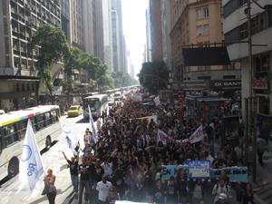 passeata professores (Foto: Aluízio Freire / G1)