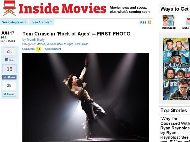 Tom Cruise em cena do filme 'Rock of ages' (Foto: Reprodução)