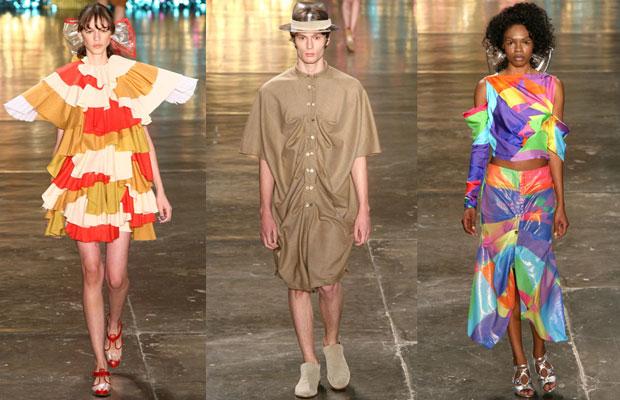 Com peças bem coloridas, a Amapô apresentou, ao som de Bob Marley, roupas femininas e masculinas (Foto: Daigo Oliva/G1)