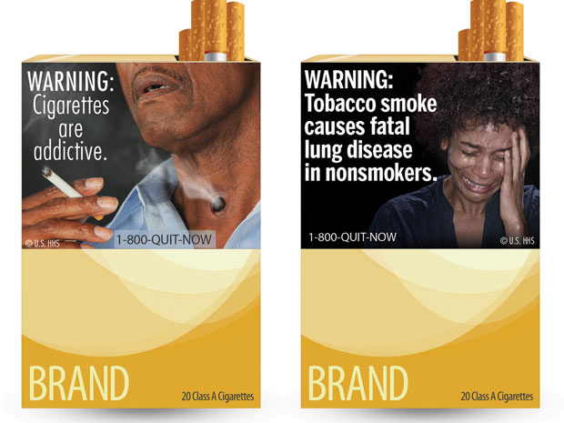 Embalagens cigarro FDA (Foto: AP Photo/U.S. Food and Drug Administration)