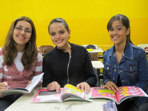 Alunas aprovam as aulas de educação financeira (Foto: Vanessa   Fajardo/G1)