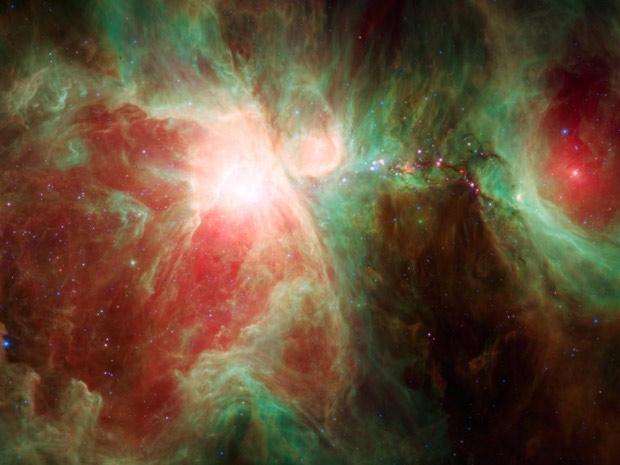Imagem mostra a Nebulosa de Órion. (Foto: Nasa / JPL-Caltech / Universidade de Toledo )