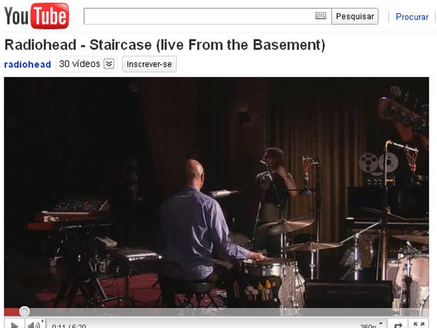 Radiohead canta nova 'Staircase' para programa da BBC (Foto: Reprodução/YouTube)