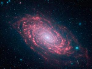 A galáxia Girassol, também conhecida como Messier 63. (Foto: Nasa / JPL-Caltech)