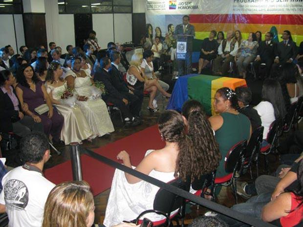 Cerimônia gay no Rio (Foto: Tássia Thum/G1)