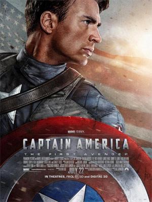 Chris Evans como Capitão América no pôster do filme (Foto: Reprodução)