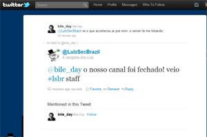 Twitter do LulzsecBrazil afirma que canal usado para comunicação do grupo havia sido suspenso (Foto: Reprodução)