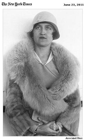 A milionária Huguette Clark, ainda jovem (Foto: Reprodução/NYT/AP)