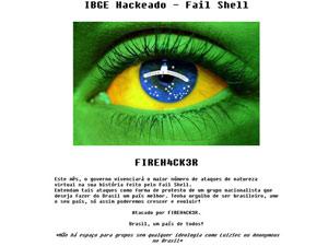 IBGE, hacker, hackeado (Foto: Reprodução/Site do IBGE)