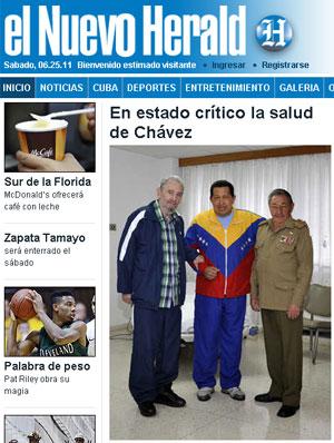 Capa do site do 'El Nuevo Herald' (Foto: Reprodução/elnuevoherald.com)