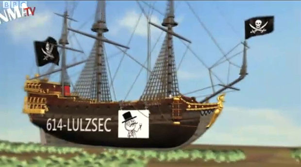 Imagem usada pelo grupo de hackers (Foto: Reprodução/BBC/Grupo Lulzsec)