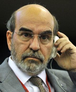 Graziano durante reunião da FAO na véspera da eleição (Foto: AFP)