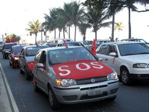Carreata dos bombeiros no Rio (Foto: Bernardo Tabak/G1)
