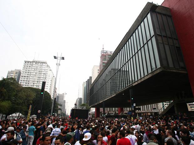 Concentração aconteceu na frente do Masp (Foto: Daigo Oliva/G1)