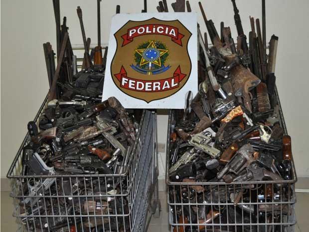 armas pf (Foto: Divulgação/PF-PE)