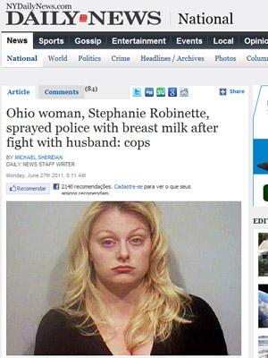 Stephanie Robinette em foto divulgada pela polícia (Foto: Reprodução)