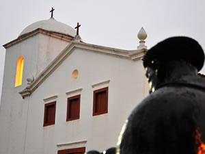 Igreja de São Benedito, em Cuiabá (Foto: Arquivo TVCA)